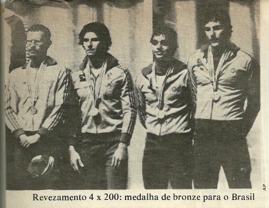 Djan, Cyro, Mattioli e Jorge no pódio olímpico.