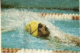 """""""Matéria na Swimming World em 1980 sobre o campeonato americano realizado em abril. Venci pela 1a vez após tentar por 5 anos"""" DM"""