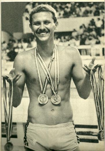 Djan e as 6 medalhas conquistadas no PAN. Mais um recorde na carreira.