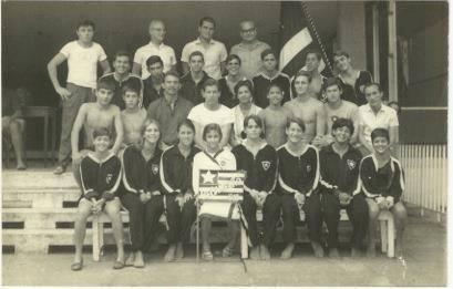 Equipe de natação do Botafogo, treinada por Pavel