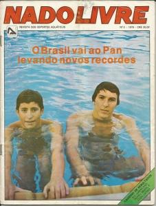 Pan 1979. Capa da Revista Nado Livre, ao lado de Ricardo Prado.